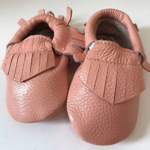 Other - Genuine Leather Light Pink Baby Moccasins